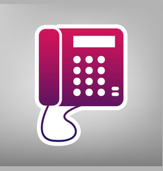 communication or phone sign purple vector image vector image