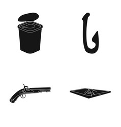 computer weapon and or web icon in black style vector image