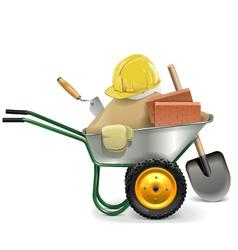 Construction Concept with Wheelbarrow vector image