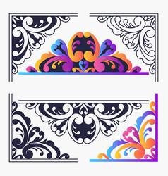 corner frame vector image