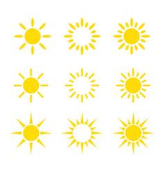 creative yellow sun icon design collections vector image