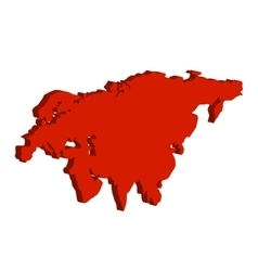 Eurasia Continent Bulk vector image