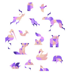 European animals colored vector