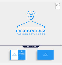 Fashion light bulb with simple logo template vector
