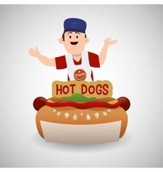Fast food design Menu icon White background vector image