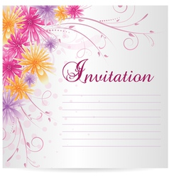 flower invitation vector image