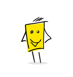 free hand drawing of a happy box vector image