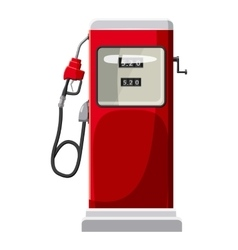 Gas station icon cartoon style vector