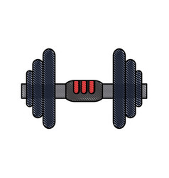 gym dumbbell weight vector image