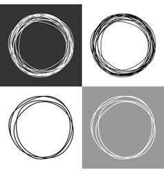Hand drawn circles design elements vector image vector image