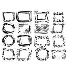 Hand drawn frames set vector image