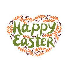 Hand lettering with inscription happy easter with vector