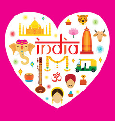 india travel attraction vector image