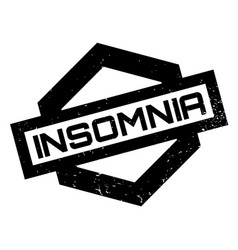Insomnia rubber stamp vector