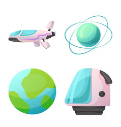 isolated object of mars and space sign collection vector image
