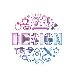 linear logo design concept vector image