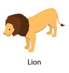 lion icon isometric style vector image