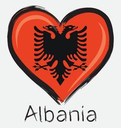 Love albania flag vector