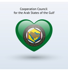 Love Arab States of the Gulf symbol vector