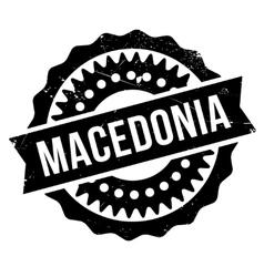 Macedonia stamp rubber grunge vector