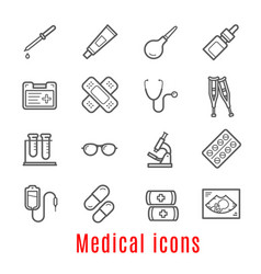 Medical thin line icon for medicine and healthcare vector