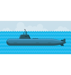 Military Submarine under Water vector image