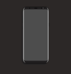 Mock up smartphone with gray screen flat vector