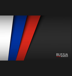 modern background with russian colors vector image