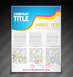 Modern company brochure flyer poster template vector