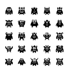 Monster characters pack vector