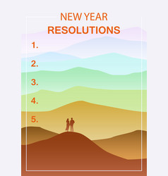New years resolution in the new year men and vector