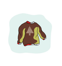 nordic christmas jumper clipart hand drawn vector image