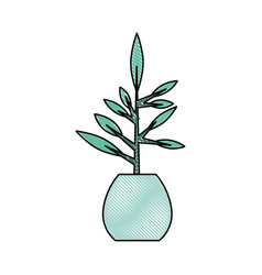 Office plant isolated icon vector