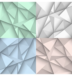 Origami backgrounds in four colors vector