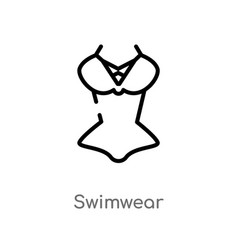 Outline swimwear icon isolated black simple line vector