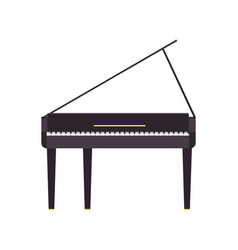 piano grand music instrument black musical vector image