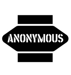 Print anonymous stamp on white vector