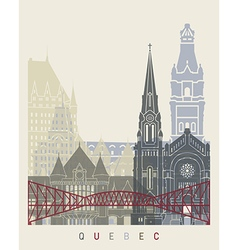Quebec skyline poster vector