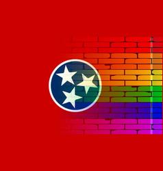 Rainbow wall tennessee vector