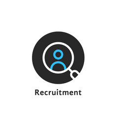 round simple recruitment logo vector image