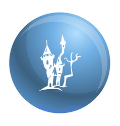 scary castle icon simple style vector image