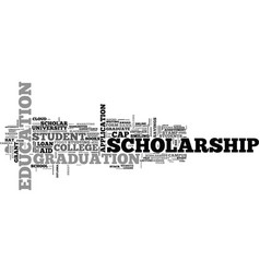 Scholarship word cloud concept vector