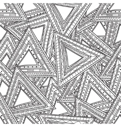 Seamless black and white pattern of triangles vector