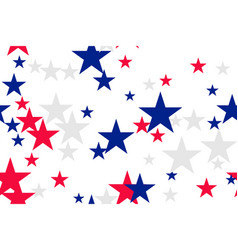 Seamless pattern with blue red white stars vector