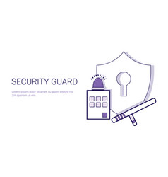 security guard concept safety and protection vector image