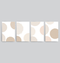 set of covers with circles and different golden vector image