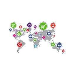 Social network marketing concept icon vector image