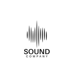Sound wave logo design template vector
