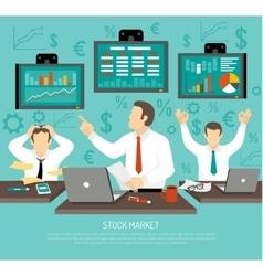 Stock Market Trader vector