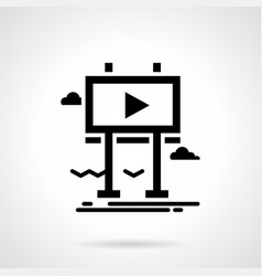 street video advertising glyph style icon vector image